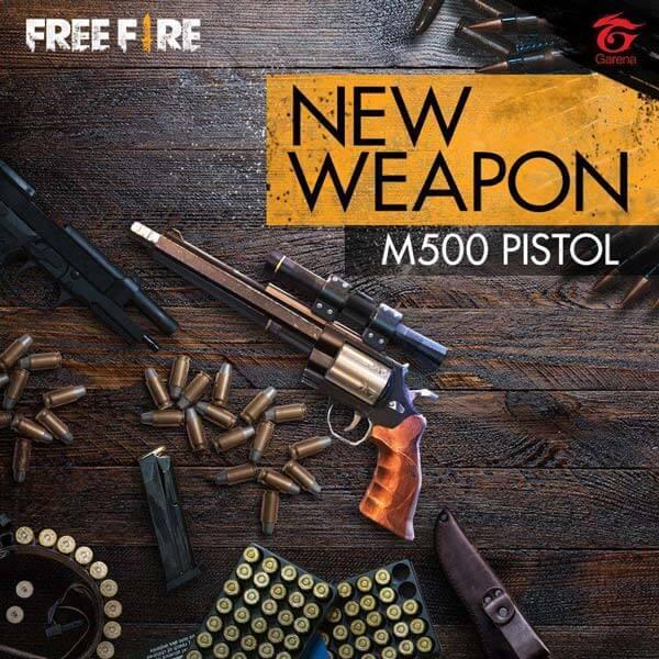 m500 free fire